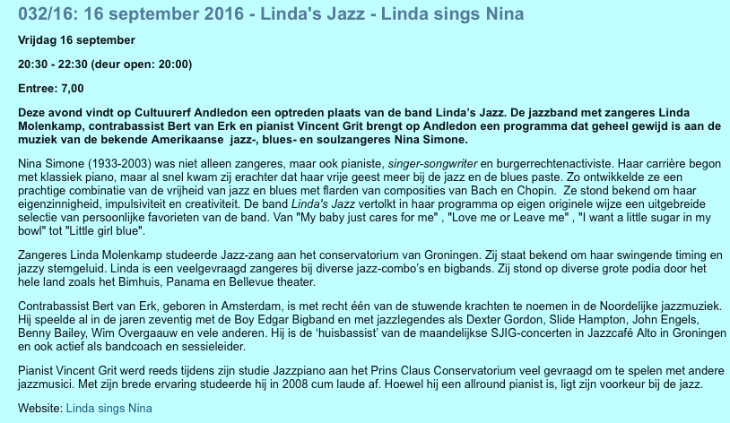 Linda sings Nina